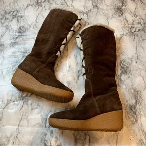 Michael Michael Kors Brown Lace Up Tall Boots